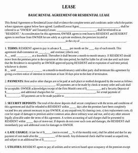 rental agreement templates 15 free word pdf documents With renters contract template free
