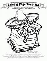Coloring Sombrero Pages Popular sketch template