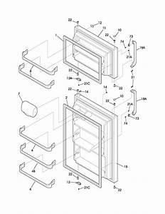 Doors Diagram  U0026 Parts List For Model Frt21c5aw6 Frigidaire