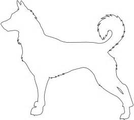 dog outline coloring page. simple dog outline for a tattoo ...