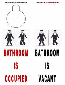bathroom vacant sign images