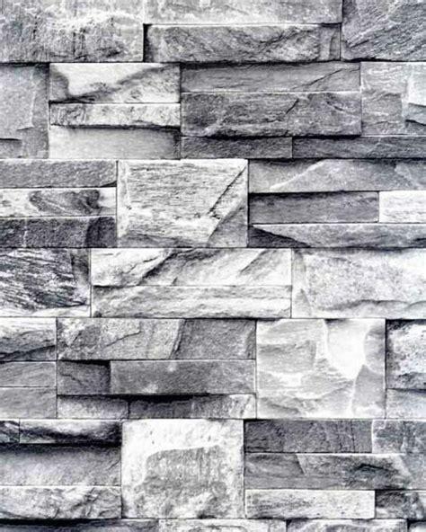 galerie bluff textured feature wallpaper  brick slate