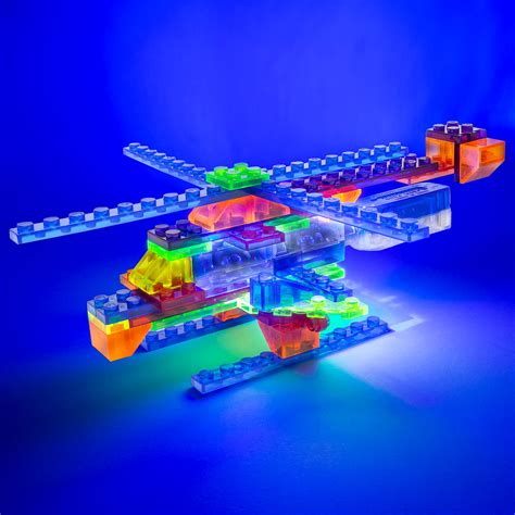 light up legos laser pegs 4 in 1 helicopter building set