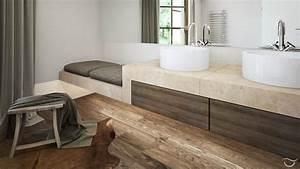 wunderschoner holzboden funktioniert auch im badezimmer With balkon teppich mit tapeten über fliesen kleben