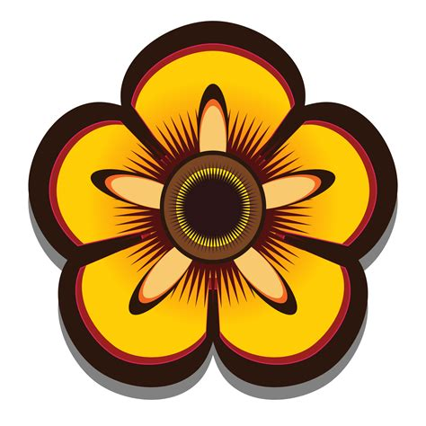 Clip Art Abstract Flower 2 Scalable