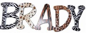 wild animal print name letters With animal print letters