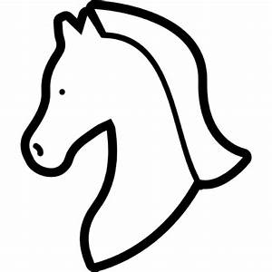Horse head outline facing the left Icons | Free Download