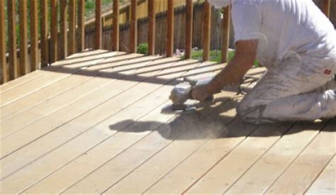 sanding a deck proper deck sanding technique the practical house painting guide