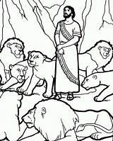 Den Daniel Lions Coloring Pages Sunday Lion Bible Sheets Printable Crafts Visit sketch template
