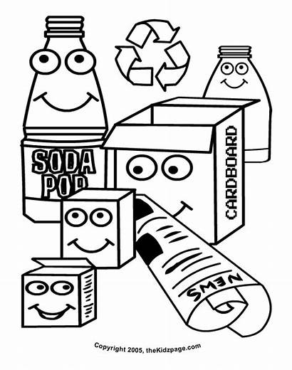 Coloring Pages Recycle Colouring Recycling Printable Sheets
