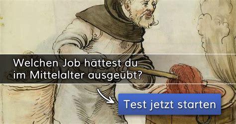 welchen job haettest du im mittelalter ausgeuebt
