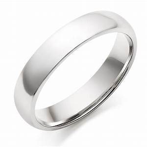 Men39s 18ct White Gold Plain Wedding Ring 0005044