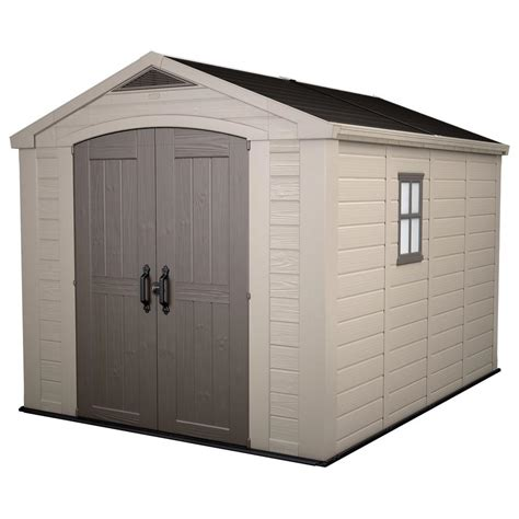 keter storage shed hinges keter factor 8 ft x 11 ft plastic outdoor storage shed