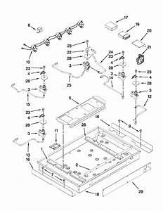 Burner Box  Gas Valves  And Switches Diagram  U0026 Parts List