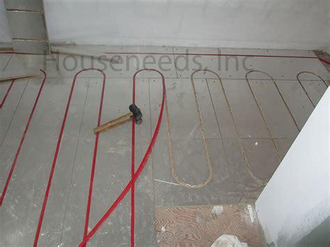 pex radiant floor heating panels thermalboard radiant pex tubing floor panels install using