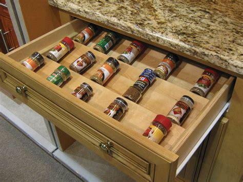 Large Spice Organizer by Wood Spice Drawer Insert