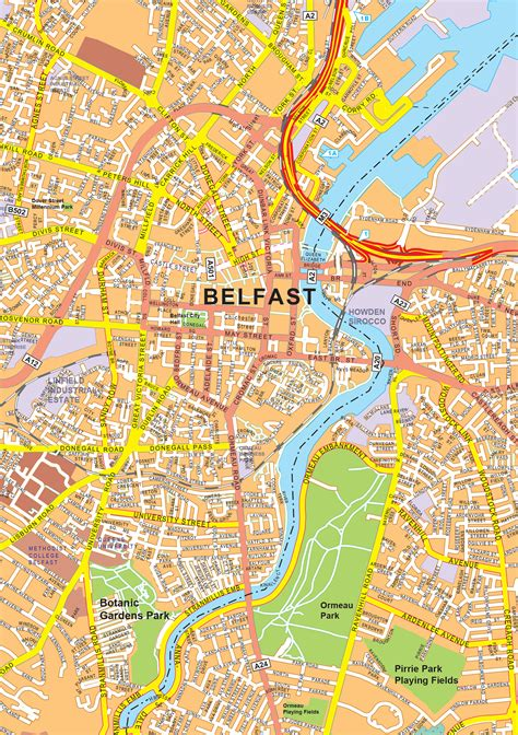 digital city map belfast   world  mapscom