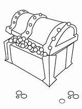 Treasure Chest Coloring Clipart Pearls Cliparts Chair Clip Library Popular Results Coloringhome Related sketch template