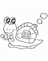 Snail Coloring Pages Cartoon Cute Print Printable Getcoloringpages Turbo Simple Sea sketch template