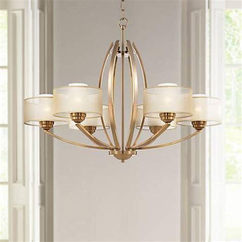 wide chandelier possini alecia 34 quot wide gold chandelier