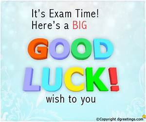Good Luck for Exams Messages