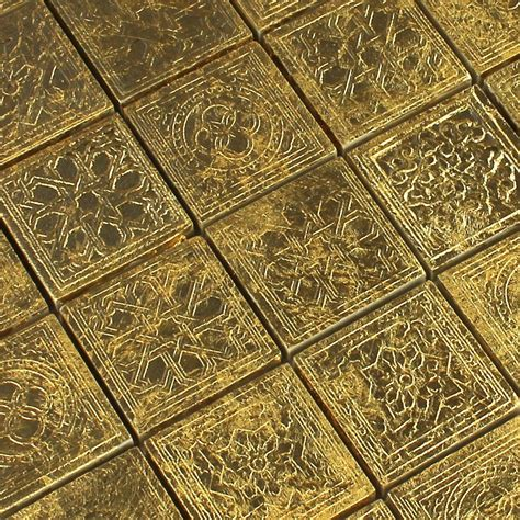 ceramic mosaic tiles gold 48x48x10mm lz69175m