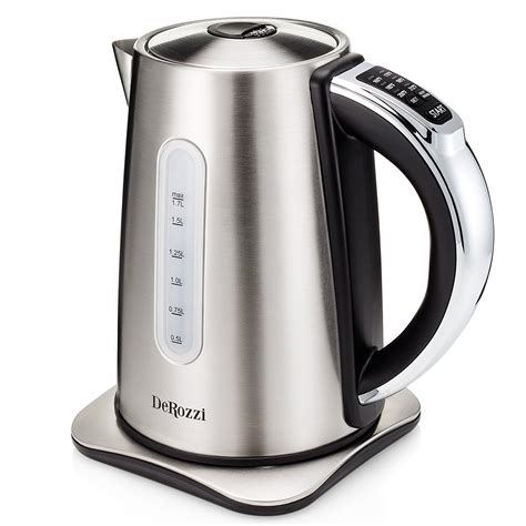 kettle electric stainless steel tea pot water heat cordless variable temperature settings control kettles plastic liter logic
