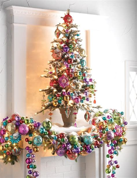 raz imports ornament delight decorated christmas tree at