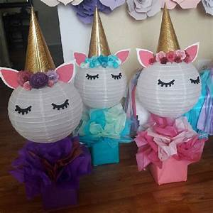 Lanternshop: Kids party inspiration - Paper lantern unicorns!