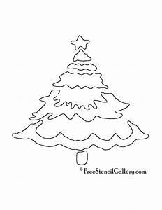 Christmas, Tree, Stencil, 02