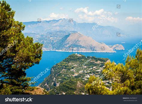 Capri Beautiful Famous Island Mediterranean Sea Stock