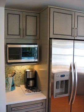 The easy and funny way to make hot coffee using microwave oven. Can microwave shelf go right next to fridge? - Appliances Forum - GardenWeb; coffee area ...