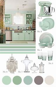 best 25 mint green kitchen ideas on pinterest mint With kitchen colors with white cabinets with seafoam green wall art