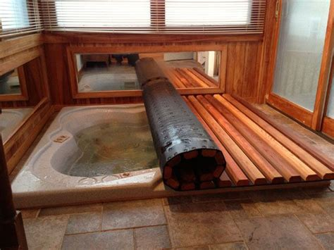 hot tub spa roll  rolling covers hot tub room hot
