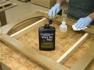 minwax water based wipe  poly review