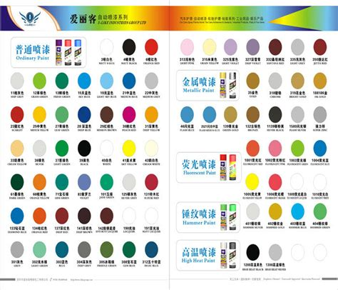 spray paint color chart for cars home painting