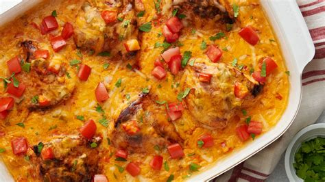 smothered chicken queso casserole recipe tablespooncom