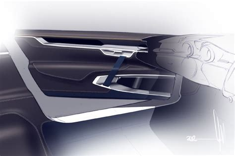 Volvo Concept Coupe Interior Door Panel Render