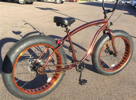 Fat Tire Beach Cruiser Bicycle , Custom Copper Paint