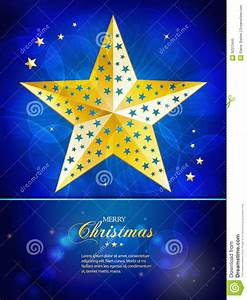 Christmas Gold Star Template With Sample Text Royalty Free ...