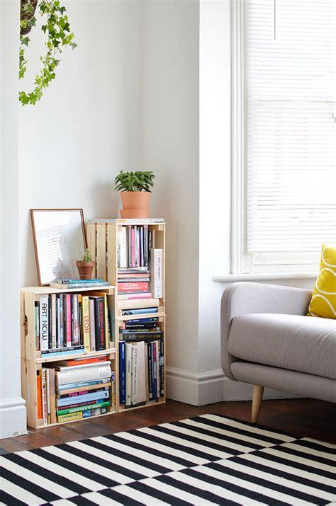 Bookcase Ideas by Diy Crate Bookcase Burkatron