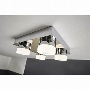 Plafonnier Salle De Bain Castorama : plafonnier fixer icaria inspire led 4 x 4 w led ~ Nature-et-papiers.com Idées de Décoration