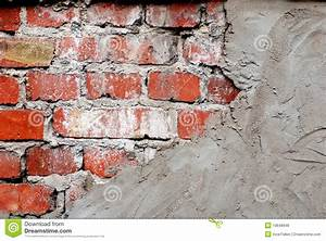 Old Brick Wall With Concrete Stock Photo - Image: 19648948