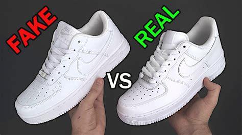 fake  real nike air force    spot fake nike air force  sneakers youtube
