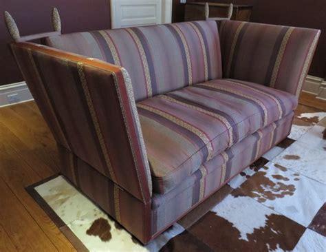 knole sofa tie backs george smith knole 7 sofa in burgundy stripe the local