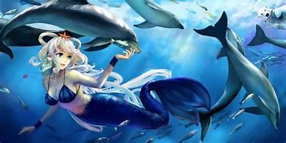 Underwater Mermaid Bikini Dolphin Fish Animal Vocaloid