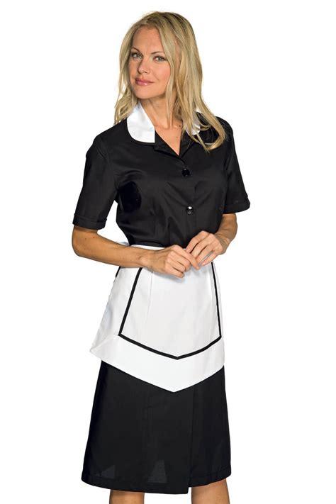blouse de cuisine femme blouse et tablier femme de chambre manches courtes noir