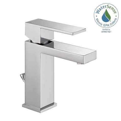 modern kitchen sink faucets delta modern single hole single handle bathroom faucet in