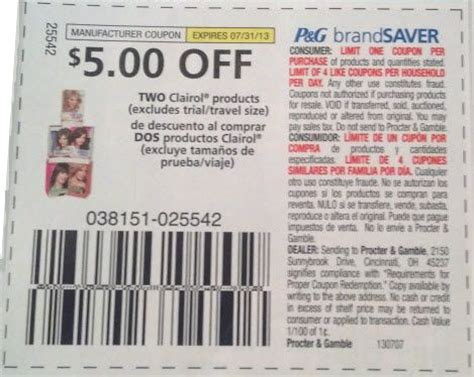 clairol natural instincts $5 coupon