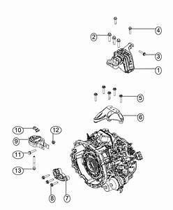 2016 Dodge Dart Engine Mount  Rear  Mounting